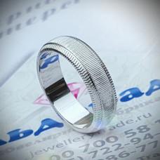 Кольцо из белого золота с родиевым покрытием