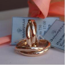 Бесконечное обручальное кольцо Мёбиуса из розового золота 750 пробы