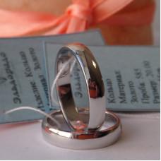 Классическое обручальное кольцо с бриллиантами в виде сердца, из белого золота