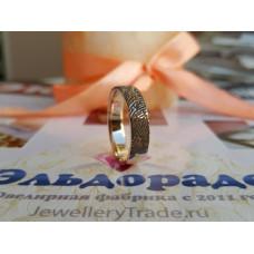 Классическое обручальное кольцо с отпечатком пальца, из красного золота