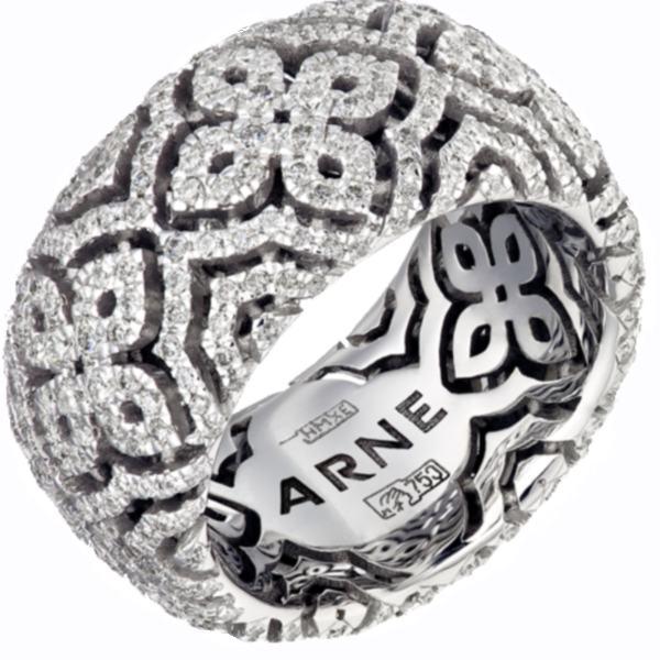 """Кольцо """"ARNE"""" из белого золота с бриллиантами"""