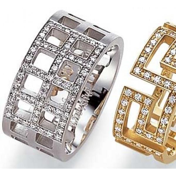 Кольцо из белго золота с бриллиантами