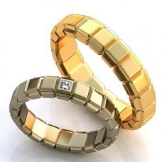 Кольцо из белого золота с алмазом