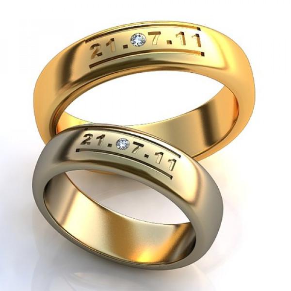 Кольцо из желтого золота c бриллиантом