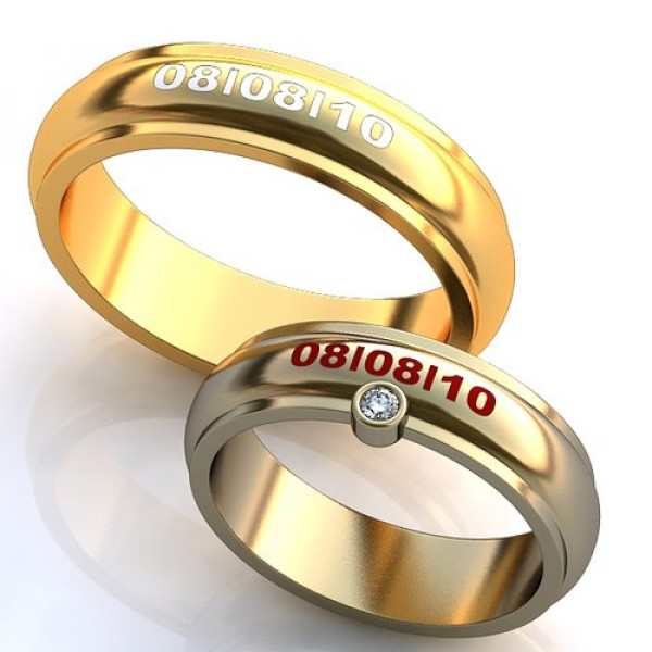 Кольцо из желтого золота c эмалью