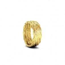 Кольцо из желтого золота 'Колосок'