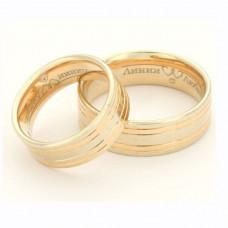 Кольцо из комбинированного золота с бриллиантом