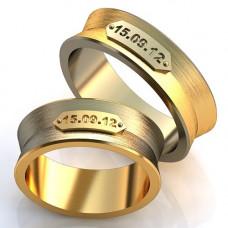 Кольцо из комбинированного золота