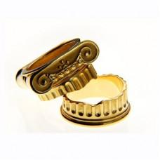 """Кольцо из красного золота """"низ колонны"""""""