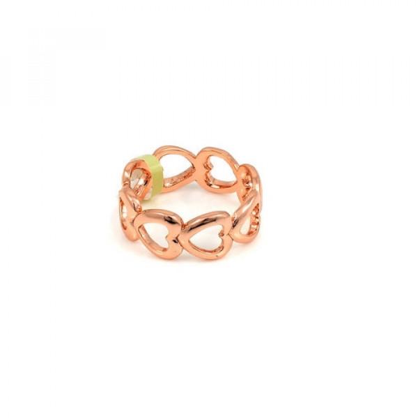 Кольцо из красного золота 'Сердечки'