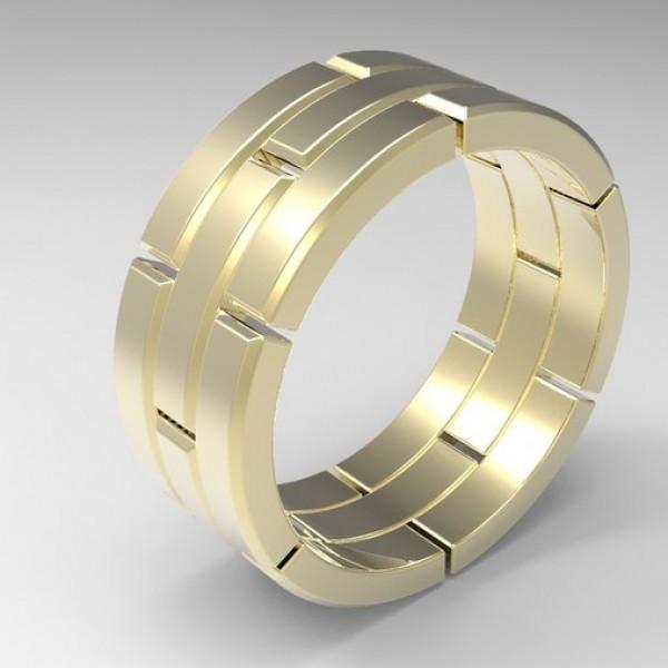 Мужское обручальное кольцо из желтого золота