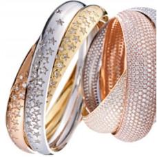"""Обручальное """"Cartier"""" кольцо из комбинированного золота c бриллиантами"""