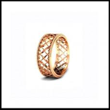 """Обручальное кольцо """"ажурное""""из красного золота"""