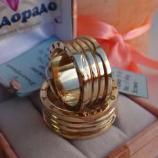 """Обручальное кольцо """"BVLGARI"""" из желтого золота"""