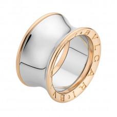 """Обручальное кольцо """"BVLGARI"""" из комбинированного золота"""