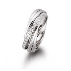 """Обручальное кольцо """"Cartier"""" из белого золота с бриллиантами"""