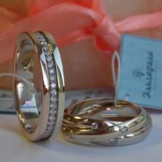 """Обручальное кольцо """"Cartier"""" из комбинированного золота c бриллиантами"""