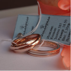 """Обручальное кольцо """"Cartier"""" из комбинированного золота"""