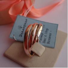 """Обручальное кольцо """"Cartier"""" из розового золота"""
