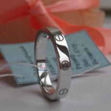 """Обручальное кольцо """"Cartier LOVE"""" из белого золота 750 пробы"""