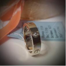 """Обручальное кольцо """"Cartier LOVE"""" из белого золота с бриллиантами"""