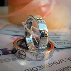 """Обручальное кольцо """"Cartier LOVE"""" из белого золота"""