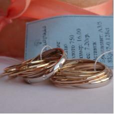 """Обручальное кольцо """"Cartier"""" Тринити из комбинированного золота"""