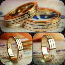 """Обручальное кольцо """"Cartier-Trinity"""" из комбинированного золота"""