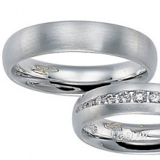 Обручальное кольцо из белго золота
