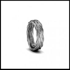 Обручальное кольцо из белого золота 'Плетенное'
