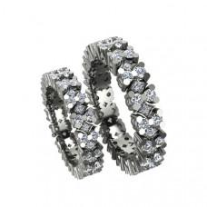 Обручальное кольцо из белого золота с бриллиантами высокого качества