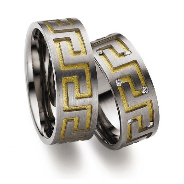Обручальное кольцо из белого золота