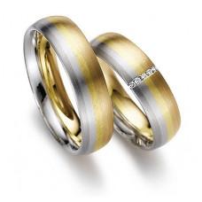 Обручальное кольцо из черного, голубого, желтого, розового и красного золота с бриллиантами