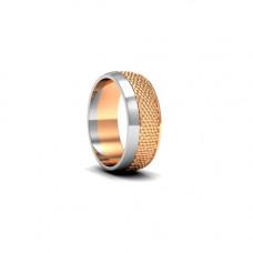 Обручальное кольцо из двух цветов золота