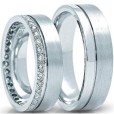 Обручальное кольцо из голубого золота