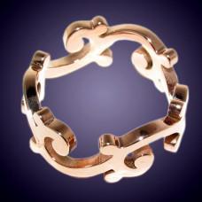 Обручальное кольцо из желолго золота