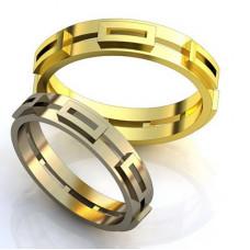 Обручальное кольцо из желтго золота