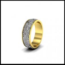Обручальное кольцо из желтого и белого золота