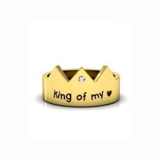 Обручальное кольцо из желтого с золота с бриллиантом