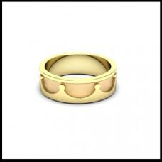 Обручальное кольцо из желтого золота 'Корона'