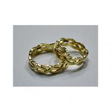 Обручальное кольцо из желтого золота 'Косичка'
