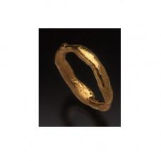 Обручальное кольцо из желтого золота 'Под фольгу'