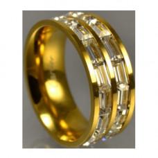 Обручальное кольцо из жёлтого золота с алмазами