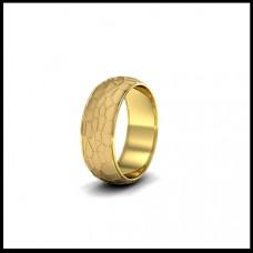 Обручальное кольцо из желтого золота с желтой эмалью