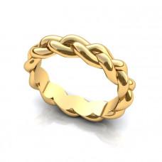 Обручальное кольцо из желтого золота с 'Косичка'