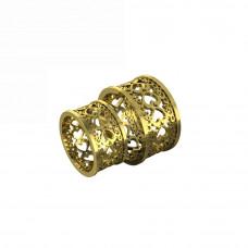 Обручальное кольцо из желтого золота с сердечками