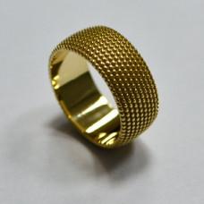 Обручальное кольцо из желтого золота 'С шипами'