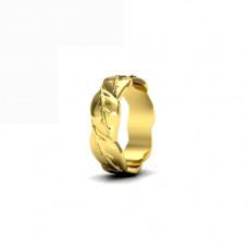 Обручальное кольцо из желтого золота 'Веточки'