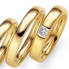 Обручальное кольцо из желтого золота