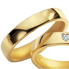 Обручальное кольцо из желтого